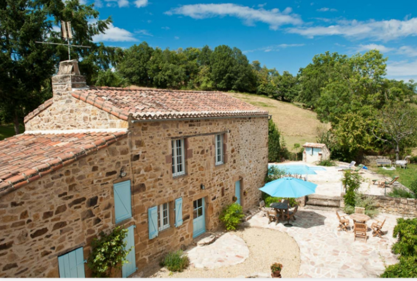 Heavenly Najac, Rent a house in France